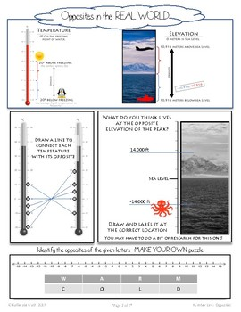 Using the Number Line:  Opposites (Mini Module)