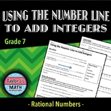 Using the Number Line to Add Integers Worksheet