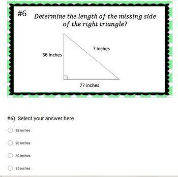 Using the Pythagorean Theorem (Google Form & Video Lesson!)