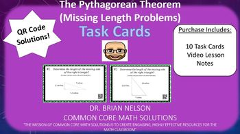 Using the Pythagorean Theorem - Task Cards & Interactive Video Lesson!