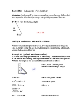 Using the Pythagorean Theorem to Solve Real-World Problems