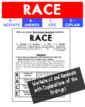 Using the RACE Strategy to Answer Prompts