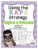 Using the RAPS Strategy to write constructed responses