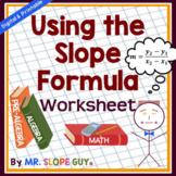 Using the Slope Formula Math Graphing PDF Worksheet Go Math