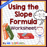 Finding Slope Using the Slope Formula Worksheet (Distance Learning)