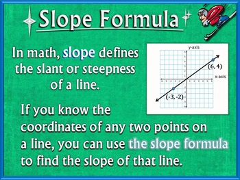 Slope Formula (PowerPoint Only)