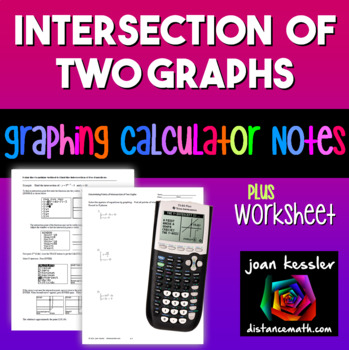 Graphing Calculator Find the Intersection of Two Graphs Us