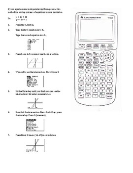 Using the TI-83 Plus/84 to Solve Systems of Equations