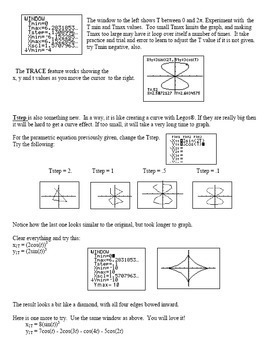 Trigonometry PreCalculus: Graph Parametric Equations on the TI 83 TI 84