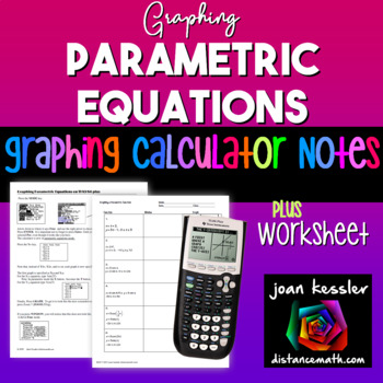 Graph Parametric Equations on the TI 83 TI 84 Plus HW for Trig PreCalculus