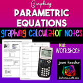 Graph Parametric Equations on the TI 83 TI 84 Plus HW for