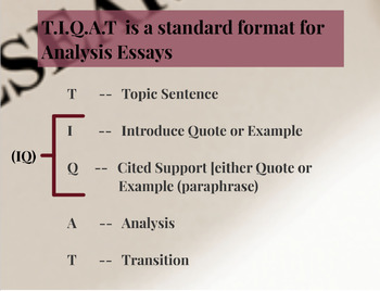 Using the TIQAT Technique--Formulating Research Paper Body Paragraphs