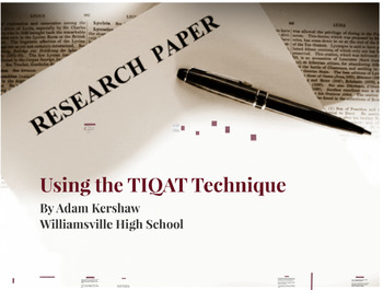 Using the TIQAT Technique--Formulating Research Paper Body