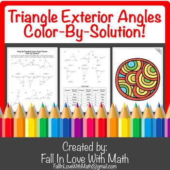 Using the Triangle Exterior Angle Theorem Color-by-Number!