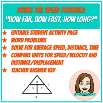 Using the speed formula: How far, how fast, how long?