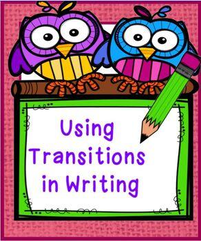 Using Transitions in Writing Winter Theme
