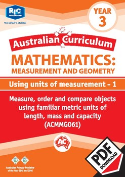 Using units of measurement 1 – Year 3