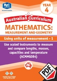 Using units of measurement 1 – Year 4