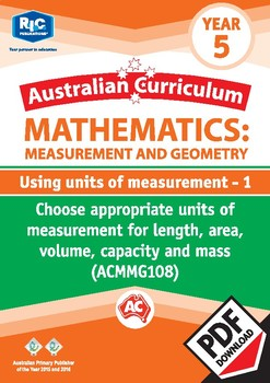 Using units of measurement 1 – Year 5
