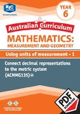 Using units of measurement 1 – Year 6