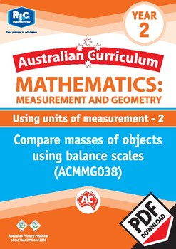 Measurement and Geometry: Using units of measurement 2 – Year 2