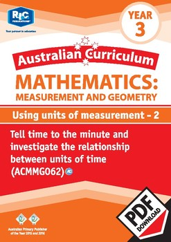 Using units of measurement 2 – Year 3