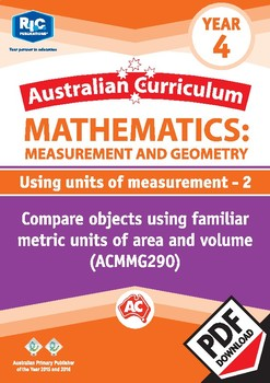 Using units of measurement 2 – Year 4