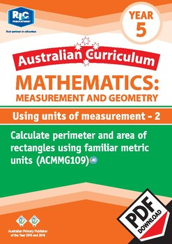 Using units of measurement 2 – Year 5