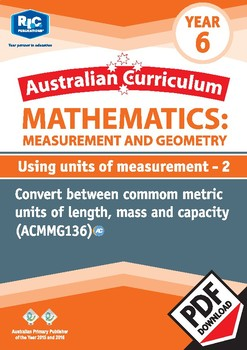 Using units of measurement 2 – Year 6