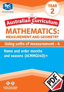 Measurement and Geometry:Using units of measurement 4 – Year 2