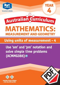 Using units of measurement 4 – Year 4