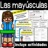 Uso de Las Mayusculas - Carteles y Actividades- Capital Letters Rules in Spanish