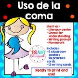 Uso de la coma Posters y Actividades/ Comma rules Spanish