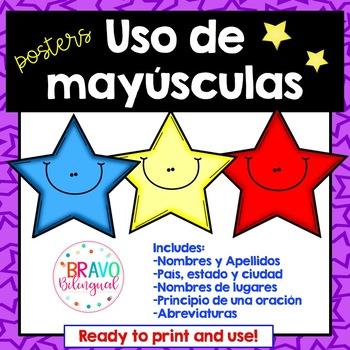Uso de mayúsculas Posters / Capital letters in Spanish