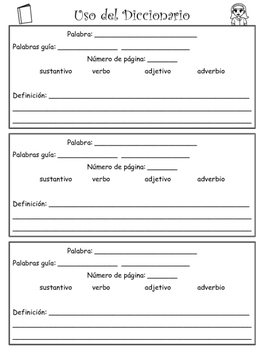 Uso del diccionario/ How to use a dictionary