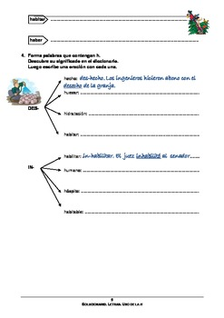 Spanish: worksheet to learn and practice the use of the letter h in Spanish