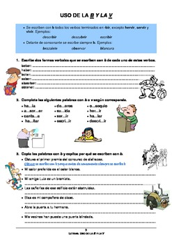 Spanish worksheet to learn and practice the use of the letters b spanish worksheet to learn and practice the use of the letters b v in spanish spiritdancerdesigns Image collections