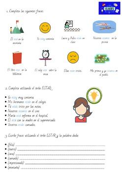Usos del verbo ESTAR + ejercicios