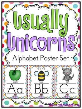 Usually Unicorns | Alphabet Poster Set