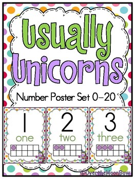 Usually Unicorns | Number Poster Set