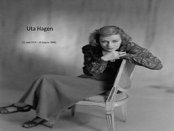Uta Hagen; A Brief Overview