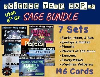 Utah 6th Grade SEEd Standards Task Card Bundle