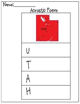 Utah Acrostic Poem