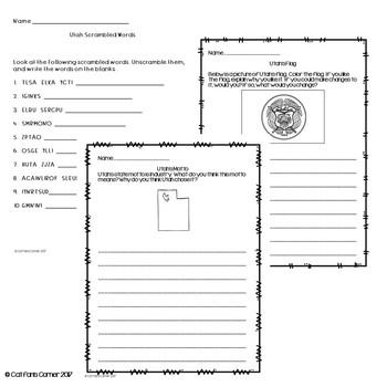 Utah Activity Packet