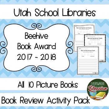 Utah Beehive Book Award 2017 - 2018 Library Lessons Reviews PICTURE BOOKS