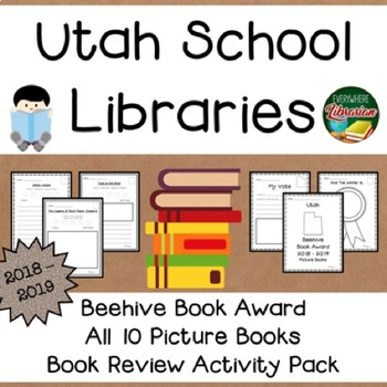Utah Beehive Picture Book Award 2018 - 2019  Book Review Activity Pack