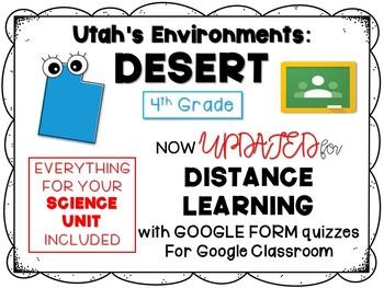 Utah Desert Environment Bundle (PPT, Journal, Game)