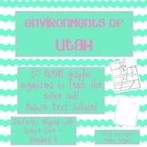 Utah Environments Blank Graphic Organizers with Answer Keys!