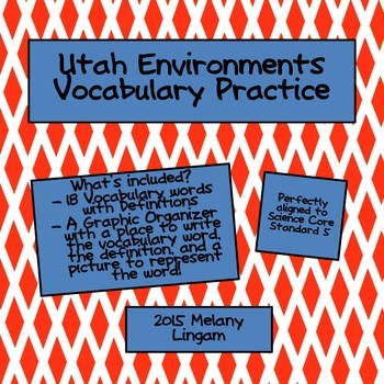 Utah Environments Vocabulary Practice!