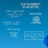 Utah Environments Vocabulary Quiz